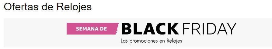 Ofertas de Relojes por Black Friday