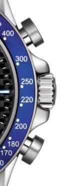 Tissot V8 Alpine - corona y pulsadores