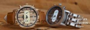 Relojes Mou de madera