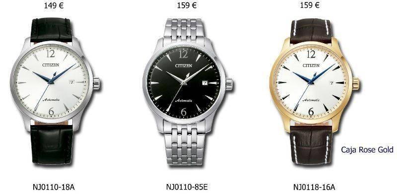 relojes automaticos de citizen