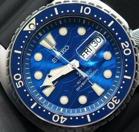 Dial azul del reloj Seiko SRPE07K1