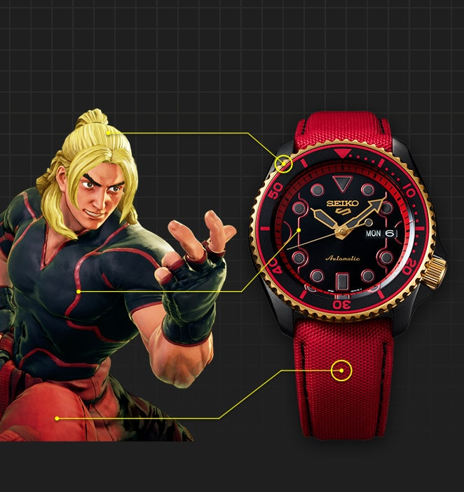 Seiko Serie 5 Street Fighter Ken
